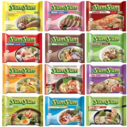 300 YumYum Nudelsuppen, 9 Sorten Yum Yum FREIE WAHL (300 Yum Yum verschiedene Sorten) - 1