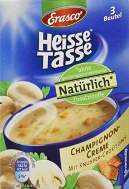 Heisse Tasse Champignon-Creme mit Croûtons Faltschachtel á 3 Beutel á 0,15 l, 12er Pack (12 x 450 ml) - 1