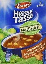 Heisse Tasse Consommé-Rinderkraftbrühe mit Croûtons Faltschachtel á 3 Beutel á 0,15 l, 12er Pack (12 x 450 ml) - 1