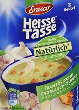 Heisse Tasse Französische Knoblauch-Suppe Faltschachtel á 3 Beutel á 0,15 l, 12er Pack (12 x 450 ml) - 1