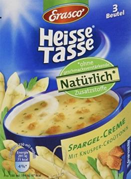 Heisse Tasse Spargel-Creme mit Croûtons Faltschachtel á 3 Beutel á 0,15 l, 12er Pack (12 x 450 ml) - 1