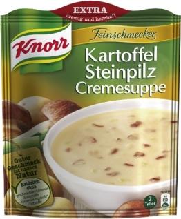 Knorr Feinschmecker Kartoffel-Steinpilz-Cremesuppe, 15 x 2 Teller (15 x 500 ml) - 1