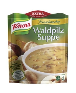 Knorr Feinschmecker Waldpilz Suppe, 17 x 2 Teller (17 x 500 ml) - 1