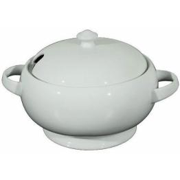 WAS Porzellan - Suppenterrine, Suppenschüssel, Suppentopf, mit Deckel, 2,5 Liter - 1