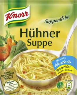 Knorr Suppenliebe Hühner Suppe, 15 x 3 Teller (15 x 750 ml) - 1