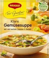 Maggi für Geniesser Klare Gemuesesuppe, 17er Pack (17 x 50 g) - 1