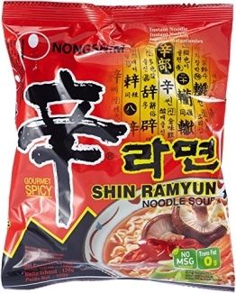 Nong Shim Instantnudeln Shin Ramyun, sehr scharf, 20er Pack (20 x 120 g Packung) - 1