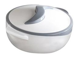 Thermoschüssel, weiß/grau 2,5 Liter mit Deckel - 1